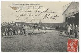 L'Aviateur A. GUYOT Aux Groues Orléans Loiret - Monoplan BLERIOT Moteur ANZANI - Octobre 1909 - Aviateurs