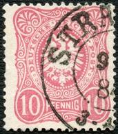 PREUSSEN 1884, NACHVERWENDETER STPL-K2, STRAELEN AUF DR Nr. 41, CV 12,- - Preussen
