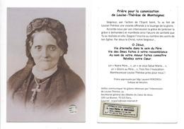 Relique Vêtements De La Vénérable Louise-Thérèse De Montaignac De Chauvance (Le Havre, Montluçon, Bizeneuille, Nevers) - Images Religieuses