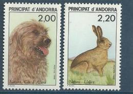 """Andorre YT 373 & 374 """" Faune """" 1988 Neuf** - French Andorra"""