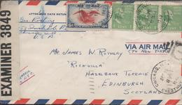 3379  Carta Aérea Chicago 1940 ,Faja Censura Nº 3849, - Vereinigte Staaten