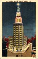 New York Buffalo Electric Building At Night 1946 - Buffalo