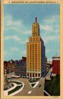 New York Buffalo Rand Building And Lafayette Square 1947 Curteich - Buffalo