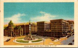 New York Buffalo Lafayette Square And Main Street 1945 Dexter Press - Buffalo