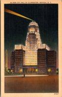 New York Buffalo New City Hall By Illumination 1949 - Buffalo