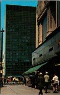 New York Buffalo Downtown Showing Tishman Building In Lafayette Square - Buffalo