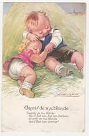 Illustrateur Mauzan Chanson Auprès De Ma Blonde Jeunes Amoureux Dans Le Foin - Mauzan, L.A.