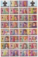 AJMAN EMIRATS ARABES UNIS 1972 KINGS AND QUEENS OF FRANCE ROIS ET REINES DE FRANCE FEUILLE COMPLETE DE 34 TIMBRES OBLITE - Ajman