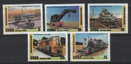 Cuba 2003 Kuba Mi 4632-4636 History Of The Railway. Lokomotive / Geschichte Der Eisenbahn. Lokomotive MNH / ** - Avions
