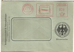 ALEMANIA HAMBURG 1955 FRANQUEO MECANICO METER CURSO PRIMEROS AUXILIOS FIRST AID ENFERMERIA MEDICINA - Accidentes Y Seguridad Vial