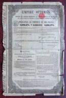 Empire Ottoman . Obligation Au Porteur De 400 F . Constantinople , Turquie , 1870 . - Actions & Titres