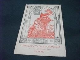 CONVEGNO FILATELICO NAZIONALE VENEZIA 1945  ILLUSTRATORE G. DAL GIAN ESPRESSO  VIAGGIATA - Borse E Saloni Del Collezionismo