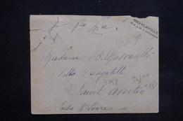 """FRANCE - Griffe """" Charleville Libéré Le 9 Novembre """" Sur Enveloppe Pour Saint Avertin En 1918 - L 24033 - Marcophilie (Lettres)"""