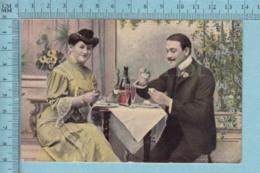 CPA  - Couple Se Nourissant  - A Servie Vers  1909 - Post Card Carte Postale - Couples