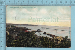 Burlington VT. CPA  - Harbor From Battery Park, Raphael Tuck   - A Servie Vers  1907 - Post Card Carte Postale - Burlington