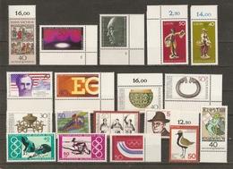 Allemagne Fédérale 1976 - Petit Lot De 18 MNH - Europa - JO 76 - Bayreuth - Orfèvrerie - Adenauer - Vrac (max 999 Timbres)