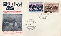 150° Anniversario Carabinieri 1964 - FDC Roma - Gendarmerie - 1946-.. République