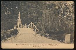 LEDE = PENSIONNAT DES DAMES CHANOINESSES DE ST.AUGUSTIN - PONT RUSTIQUE - Lede