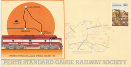 Opening Of Port-Augusta Tarcoola To Alice Springs New Railway.THE GHAN EXPEDITION 1530 Km.Special Cover - Eisenbahnen