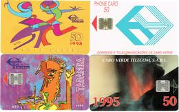 PHONECARDS-- CAPE VERDE-- 4 DIFFERENTS CARDS-- - Cap Vert