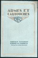 CATALOGUE GENERAL DES ARMES E CARTOUCHES HERSTAL - BELGIQUE - 1933 - Caccia/Pesca