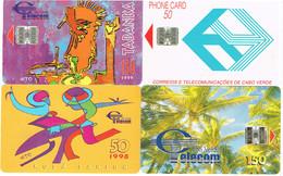 PHONECARDS-- CAPE VERDE-- 4 DIFFERENTS CARDS-- - Capo Verde
