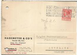 HOLANDA CC AMSTERDAM 1936 SELLO PERFORADO PERFIN HAGEMEYER & CO - 1891-1948 (Wilhelmine)