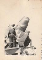 Zugkanone (80-cm-Kanone) WK2 Photo Wehrmacht Soldaten WW2 Foto - Krieg, Militär