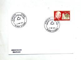 Carte Cachet Mont Saint Aignan Polymerisation - Marcophilie (Lettres)