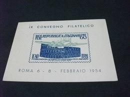 IX CONVEGNO FILATELICO ROMA FEBBRAIO 1954 ICAO - Borse E Saloni Del Collezionismo