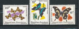 Y&T N° 137/139 - Papillons - Rwanda