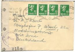 NORUEGA OSLO 1946 CC A ALEMANIA OCUPADA CON CENSURA BRITANICA - Cartas