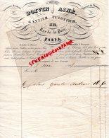 75- PARIS- RARE FACTURE 1842- BOIVIN AINE-GANTIER CULOTTIER-GANT- GANTERIE-12 RUE DE LA PAIX- FABRIQUE CHEMISES - 1800 – 1899