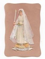 Souvenir De Communion, Communiante, Chromo, Découpis, Ajoutis - Devotion Images