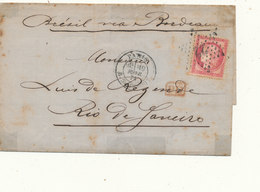 N° 57 SUR LETTRE - 1871-1875 Cérès