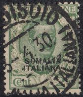 SOMALIA - 1927 - Yvert 93 Usato. - Somalia