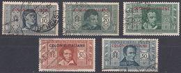 COLONIE ITALIANE 1932 - Lotto Di 5 Valori Usati: Yvert 1 E 3/6, Come Da Immagine. - Italia