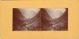 PHOTO STEREO 1925 LA COMBE DES ETAGES VALLEE DU VERREON ROUTE DE LA BERARDE - Fotos Estereoscópicas