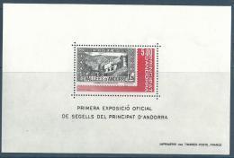 "Andorre Bloc YT 1 "" Exposition Officielle "" 1982 Neuf** - Blocks & Kleinbögen"