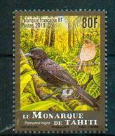Polynésie Française / French Polynesia 2019 - Monarque De Tahiti / Tahiti Monarch / Pomarea Nigra - MNH - Uccelli Canterini Ed Arboricoli