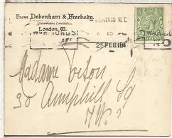 REINO UNIDO LONDON 1918 PERFORADO PERFIN DEBENHAM & FREEBODY - 1902-1951 (Könige)