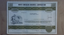 Historische Aktie Der North American Rockwell Corporation Aus 1967 - Sonstige