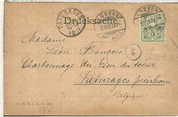 SUIZA LUZERN 1907 PERFORADO PERFIN SCHWEIZER & CO - Schweiz