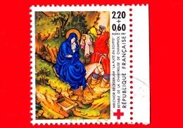 FRANCIA - Usato - 1987 - La Fuga In Egitto Di Melchior Broederlam - Chartreuse De Champmol  - Croce Rossa - 2.20+0.60 - Francia
