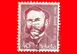 SVIZZERA - Usato - 1978 - 150 Anni Della Nascita Di Henri Dunant (1828-1910), Filantropo - Croce Rossa - 40 - Svizzera