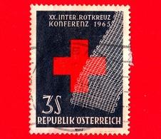 AUSTRIA - Österreich - Usato - 1965 - Croce Rossa - Red Cross - Garza - XX Conferenza - 3 - 1945-.... 2a Repubblica