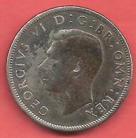 2 Shillings , GRANDE BRETAGNE , Cupro-Nickel , 1949 , N° KM # 878 - 1902-1971 : Monnaies Post-Victoriennes