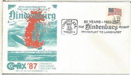 ESTADOS UNIDOS USA 50 AÑOS VUELO ZEPPELIN HINDENBURG FRANKFURT LAKEHURST - Zeppelins