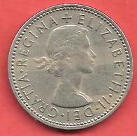 1 Shilling , GRANDE BRETAGNE , Cupro-Nickel , 1961 , N° KM # 904 - I. 1 Shilling