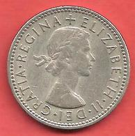 1 Shilling , GRANDE BRETAGNE , Cupro-Nickel , 1963 , N° KM # 904 - 1902-1971 : Post-Victorian Coins